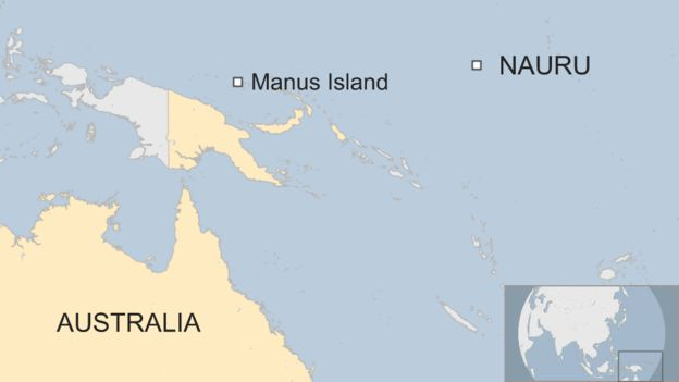 Manus and Nauru islands off Australia