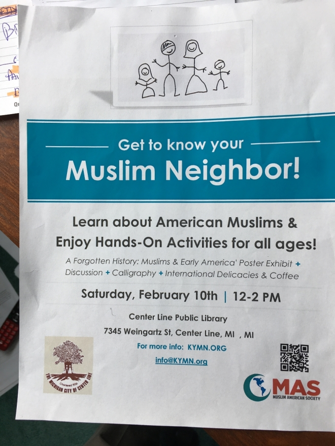 Get to know your muslim neighbor flyer