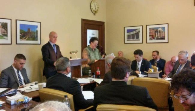 brenda arthur testifies feb 22 2017 WVA House of Delegates homeland security committee
