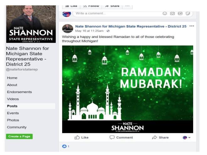 Nate Shannon FB Ramadan meme