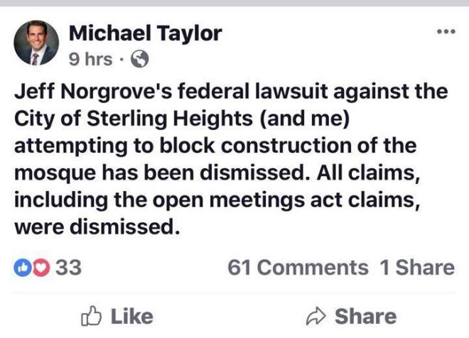 taylor gloating over court ruling