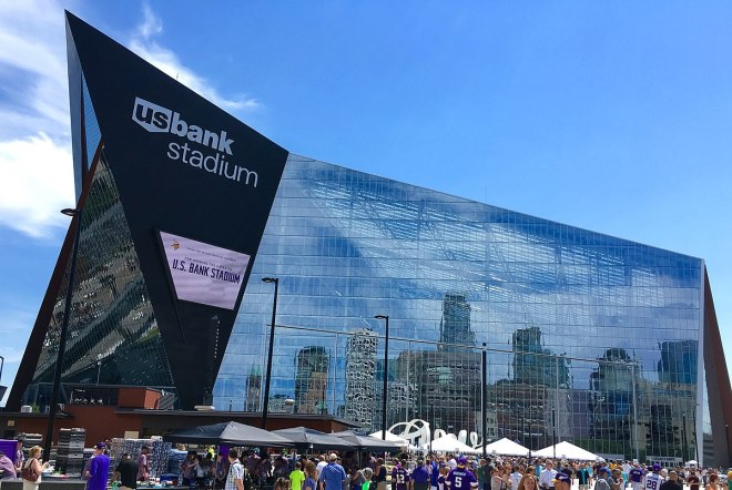 US Bank Stadium west facade