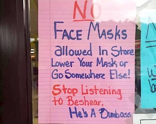 no-face-masks-store-beshear-dumbass