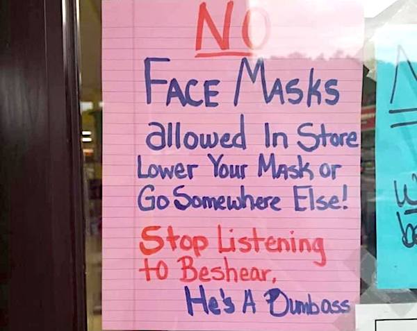 no-face-masks-store-beshear-dumbass