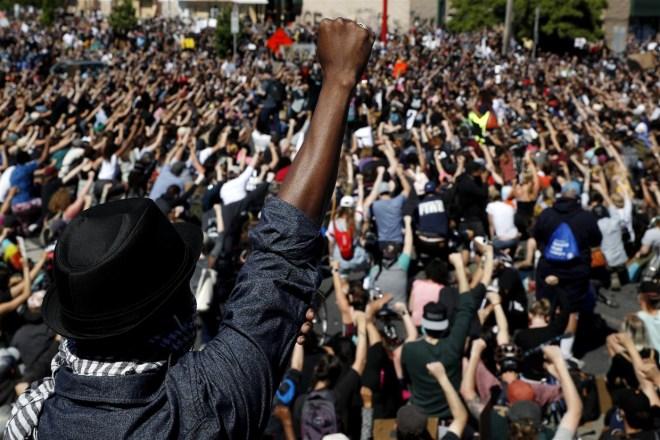minneapolis protest fist